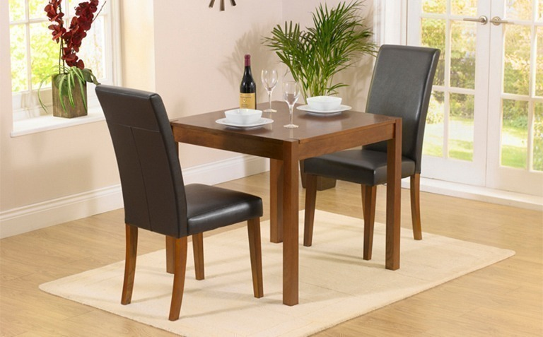 2 Seater Dark Wood Dining Table Sets