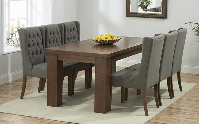 8+ Seater Dark Wood Dining Table Sets