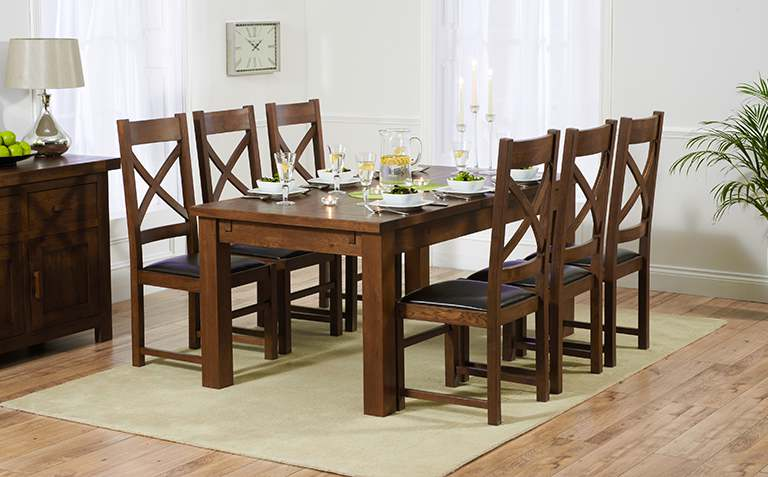 Dark Wood Dining Table Sets
