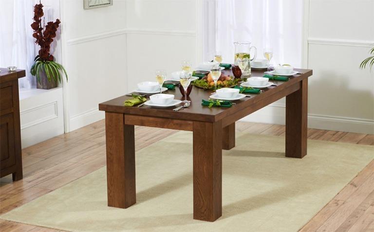 Dark Wood Dining Tables Seats 8+