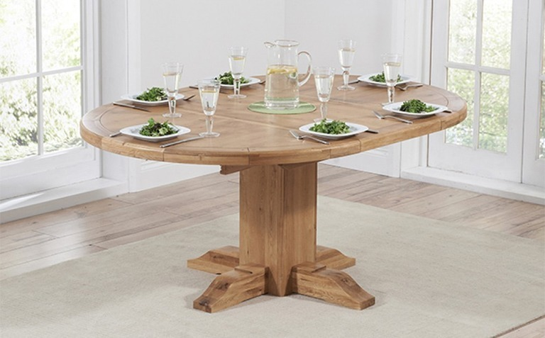 Oval and Round Oak Tables