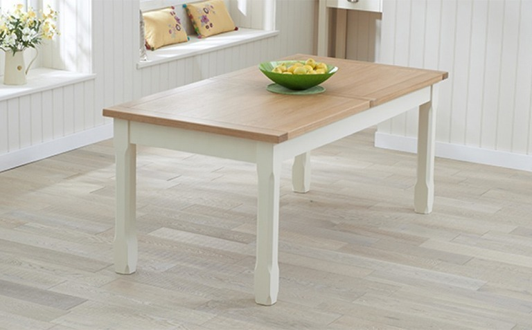 Oak and Cream Painted Dining Tables