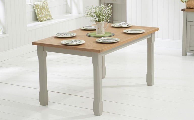 Oak and Grey Painted Dining Tables