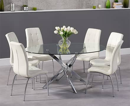 Round Glass Dining Table Sets
