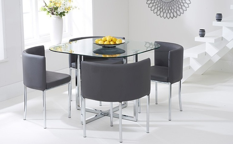 Dining table sets the great furniture trading company for Glass dining table set