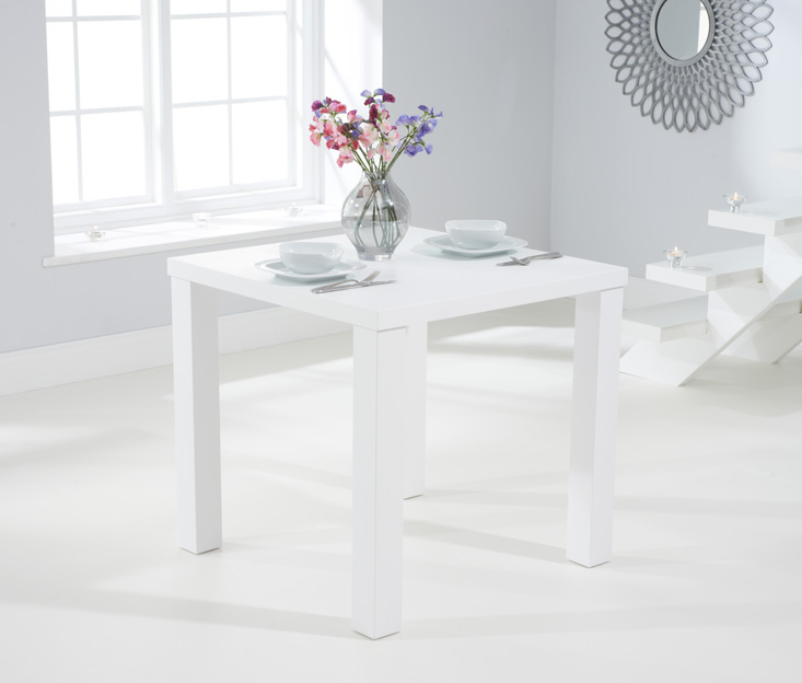 Athens 80cm Matt White Dining Table