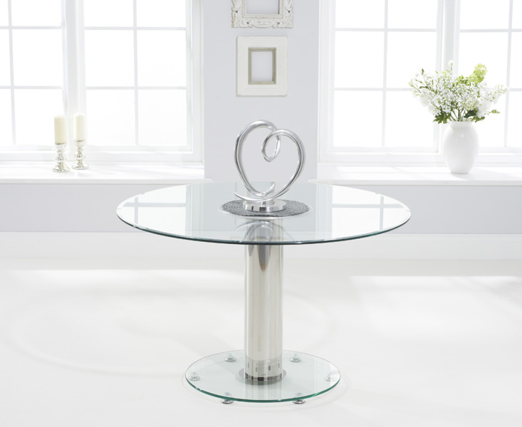 Sofia 120cm Round Glass Dining Table