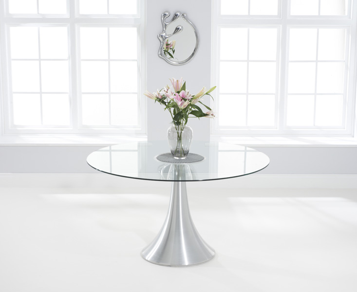 Paloma 135cm Round Glass Dining Table