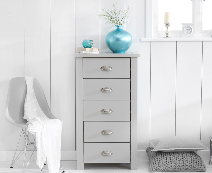Somerset Grey 5 Drawer Chest
