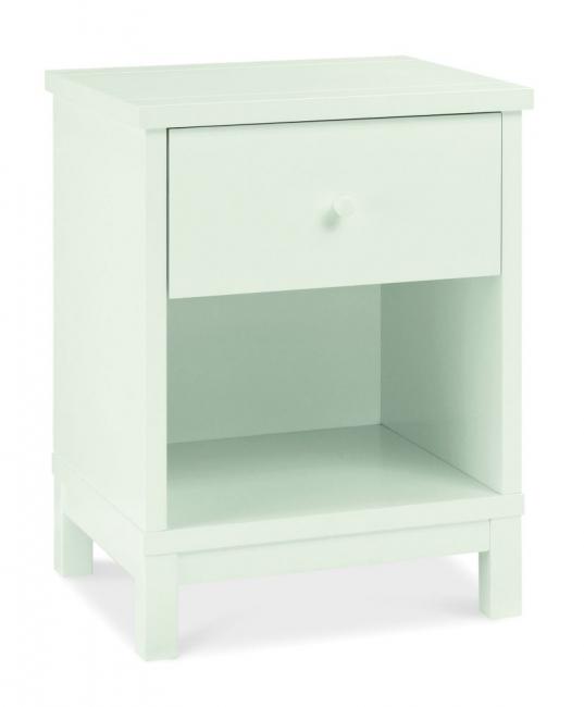 Atlanta White 1 Drawer Bedside Table