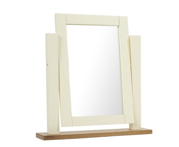An image of Somerset Oak and Cream Adjustable Dressing Table Mirror