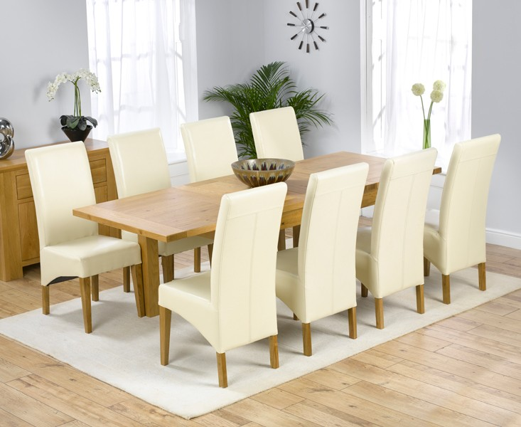 Rustique 150cm Solid Oak Extending Dining Table with Cannes Chairs