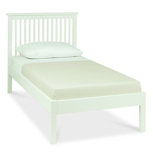 Atlanta White Low Footend Single Bed with Optional Storage