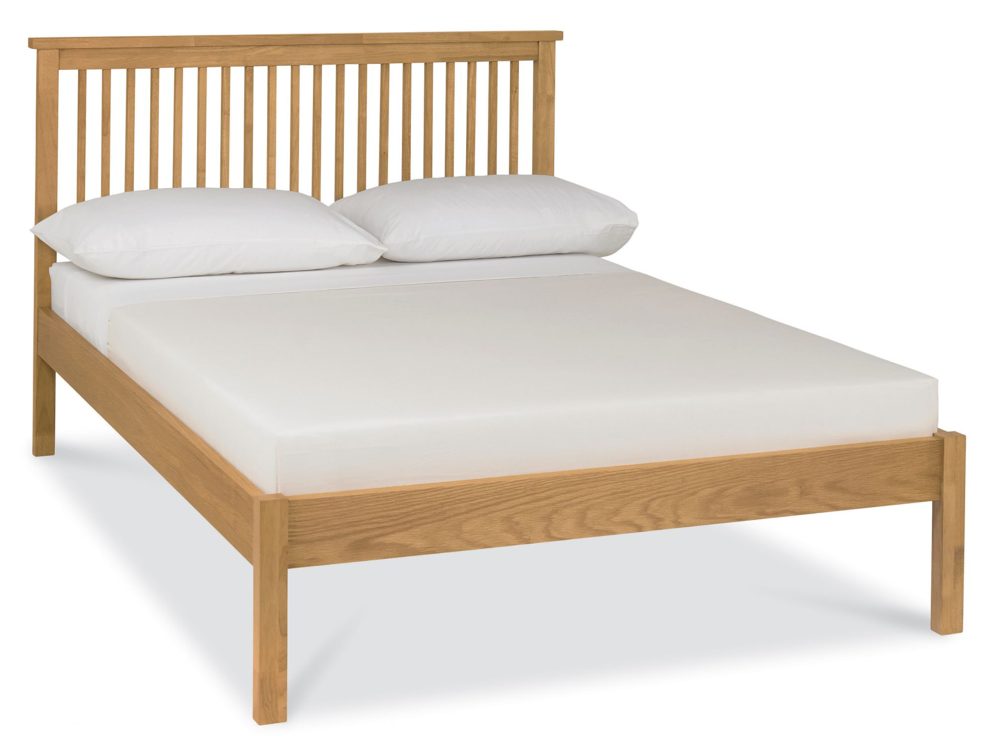Atlanta Oak Low Footend Double Bed with Optional Storage