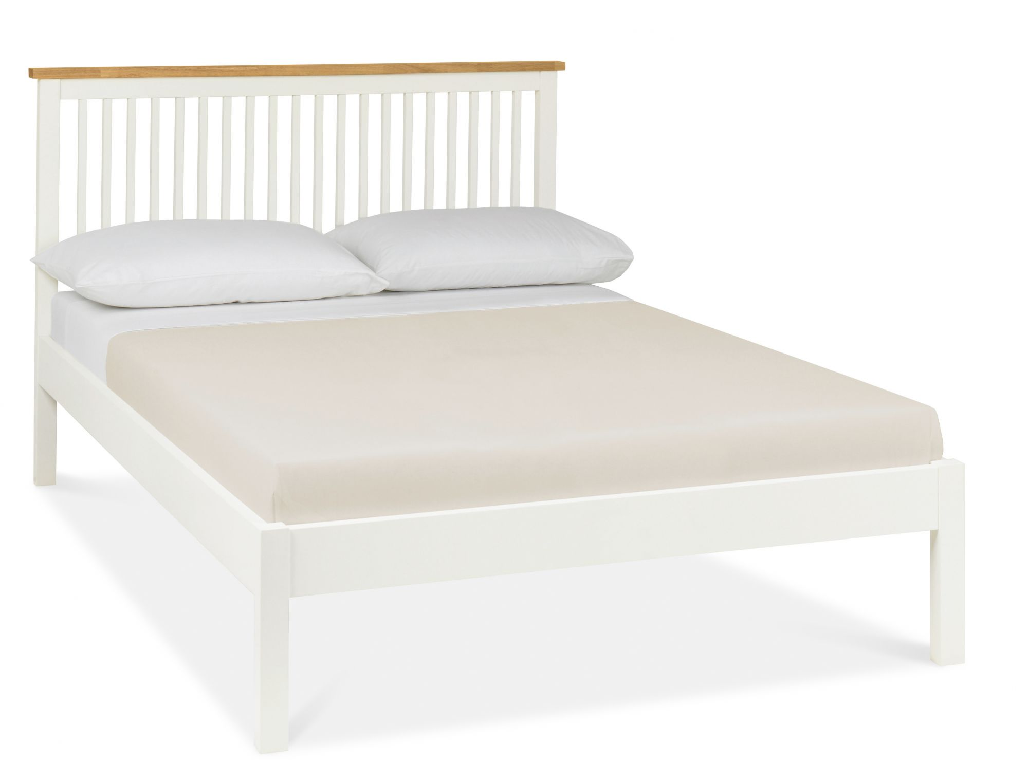 Atlanta Two Tone Low Footend King Size Bed with Optional Storage
