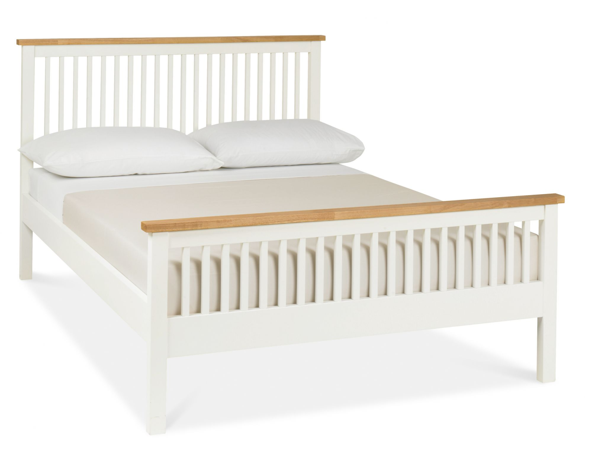 Atlanta Two Tone High Footend Small Double Bed with Optional Storage