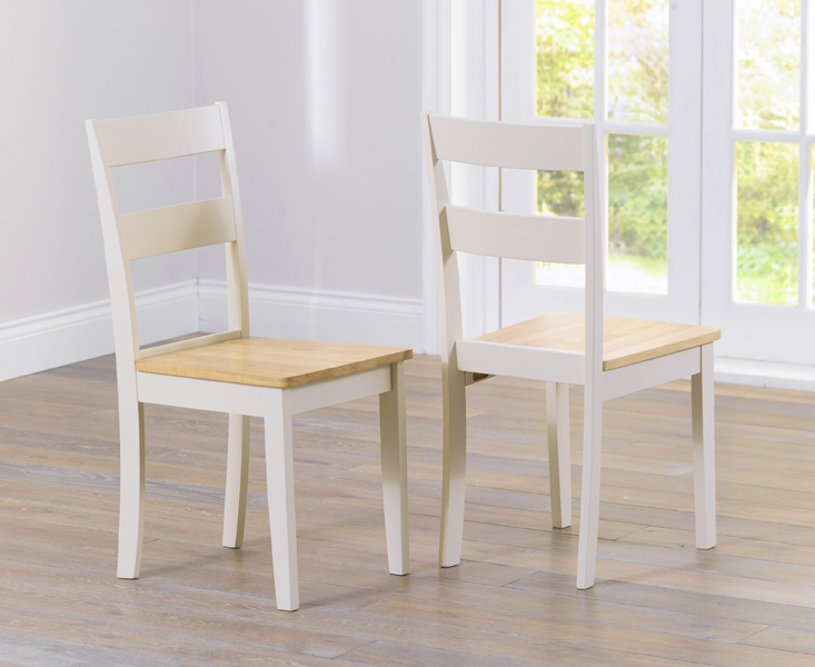 Product photograph showing Chiltern Cream Dining Chairs Pairs