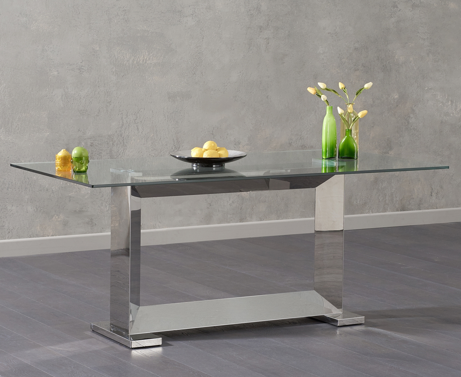 Landon 180cm Glass Dining Table