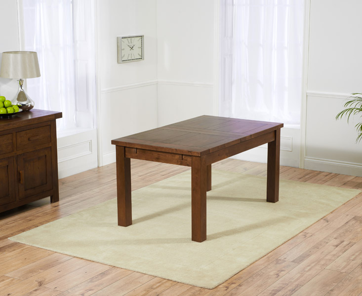 Rustique 150cm Dark Oak Extending Dining Table