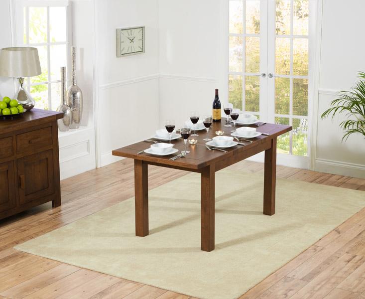 Rustique 120cm Dark Oak Extending Dining Table