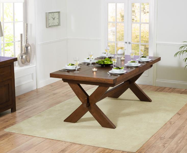 An image of Bordeaux 200cm Dark Oak Extending Dining Table