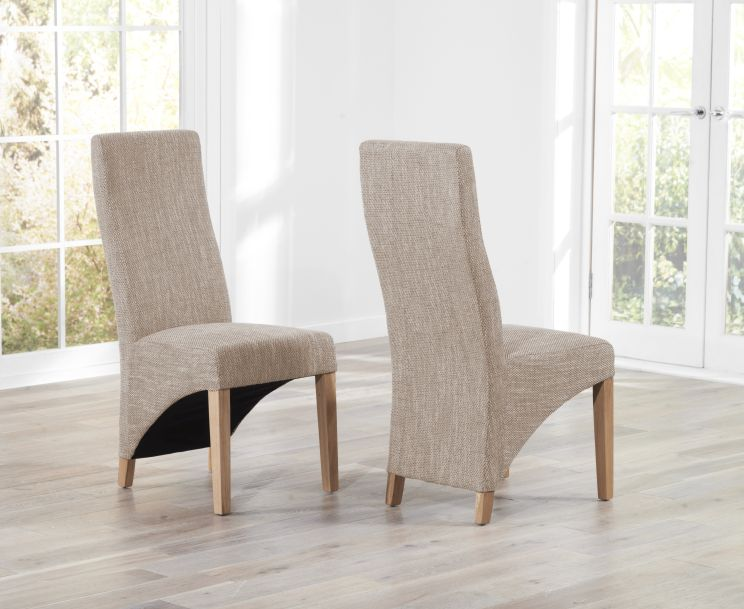 Henley Tweed Fabric Dining Chairs