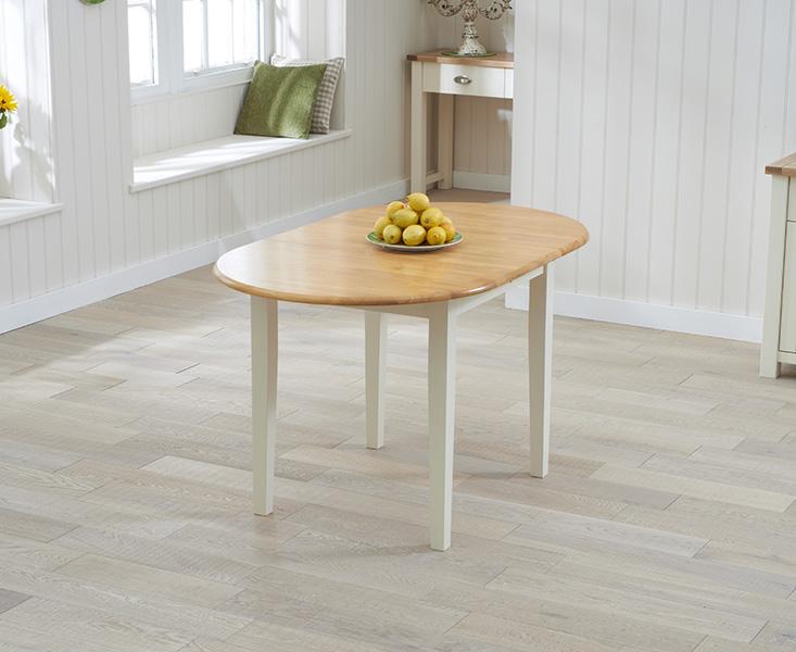Amalfi Oak and Cream Extending Table
