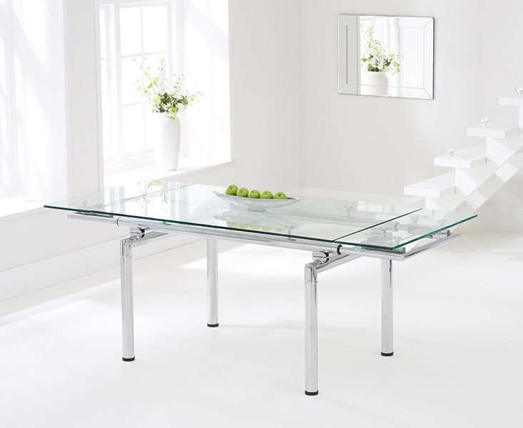 Calgary 140cm Extending Glass Dining Table