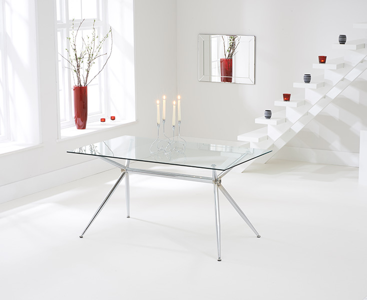 Savelli 150cm Glass Dining Table