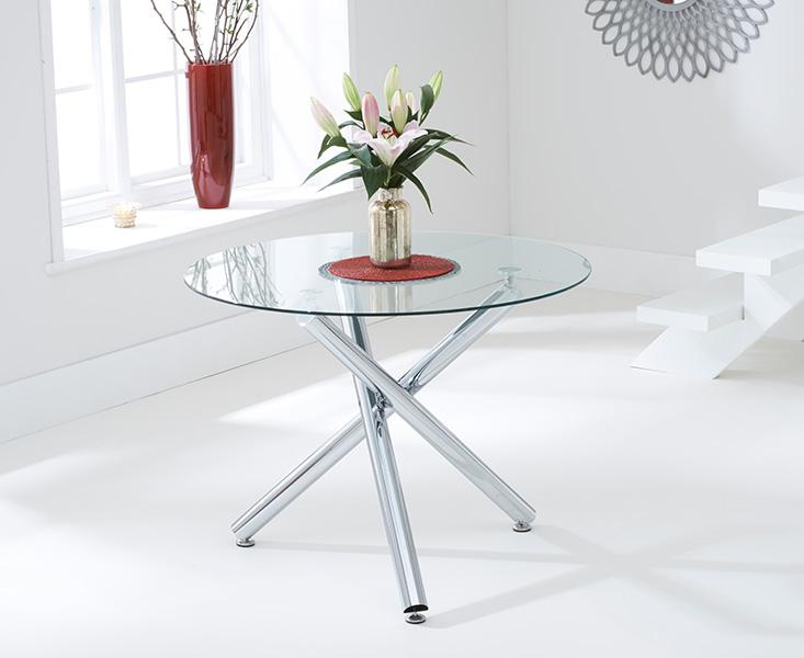 Orino 100cm Glass Dining Table