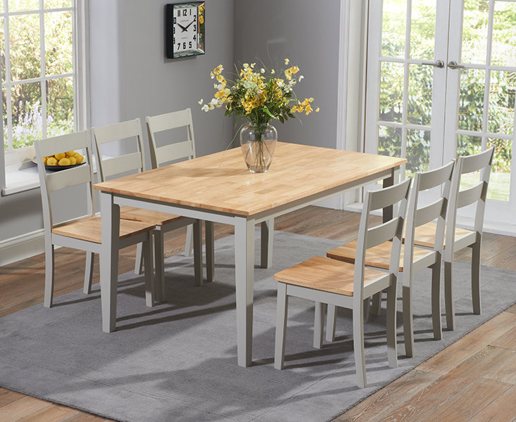Chiltern 150cm Oak & Grey Dining Table Set with Chairs
