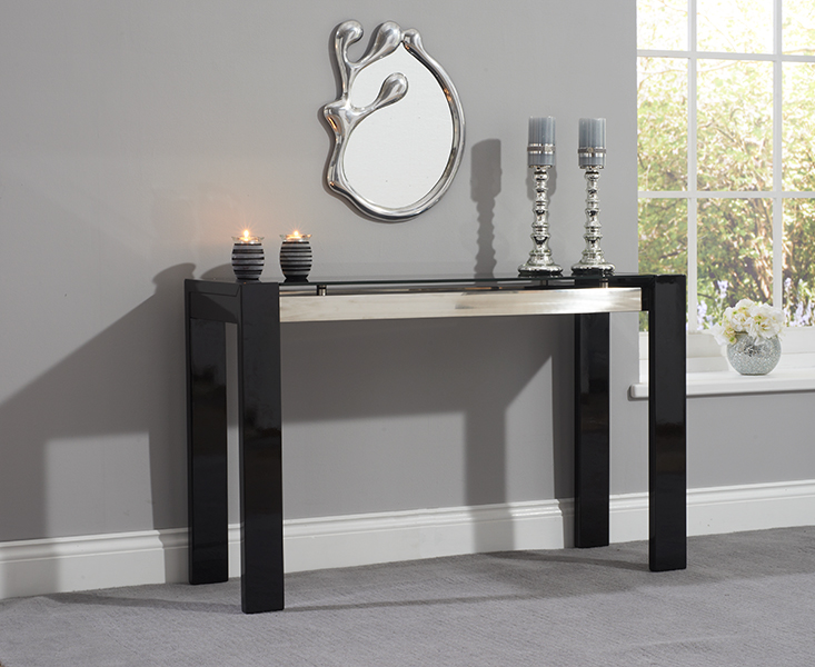 Photo of Cannes black high gloss console table