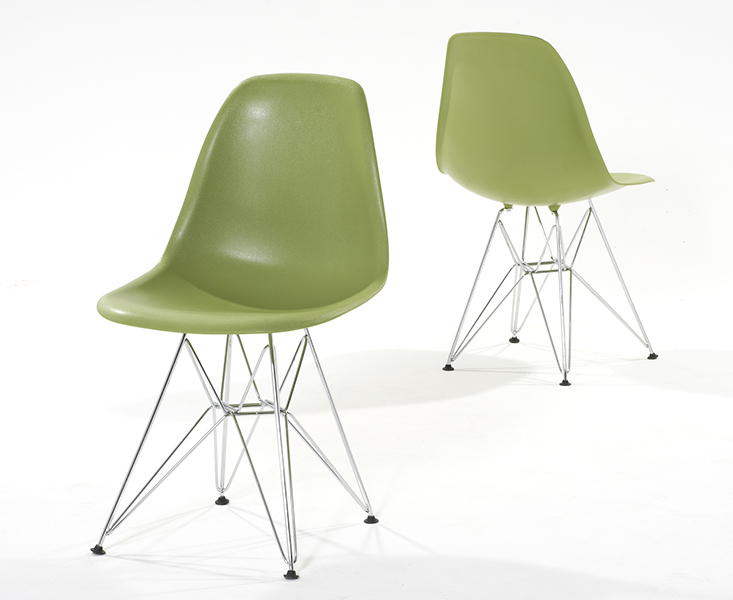 Photo of Charles eames style green dsr eiffel chairs