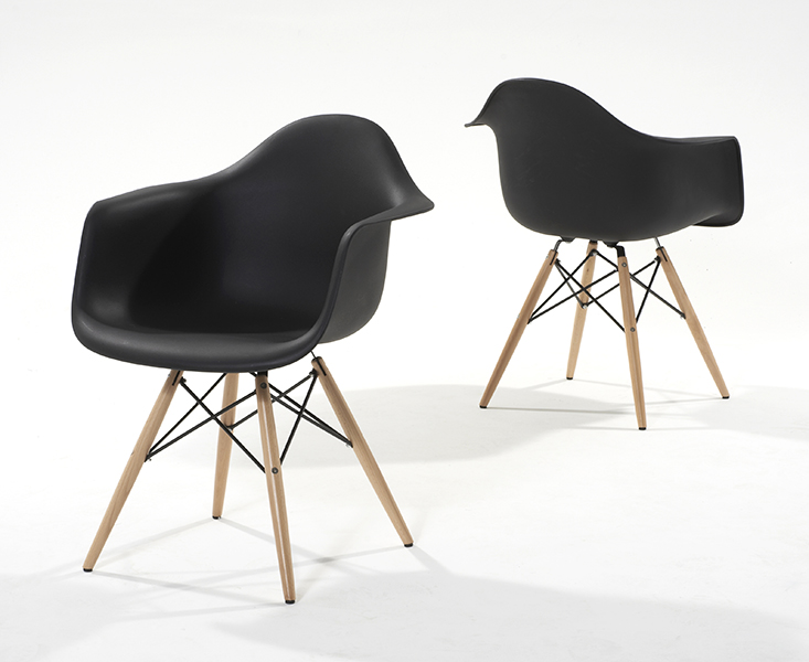 Charles Eames Style Black Dsw Eiffel Tub Chairs Discount Furniture Store