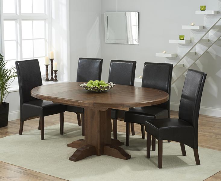 Pedestal extending dining table