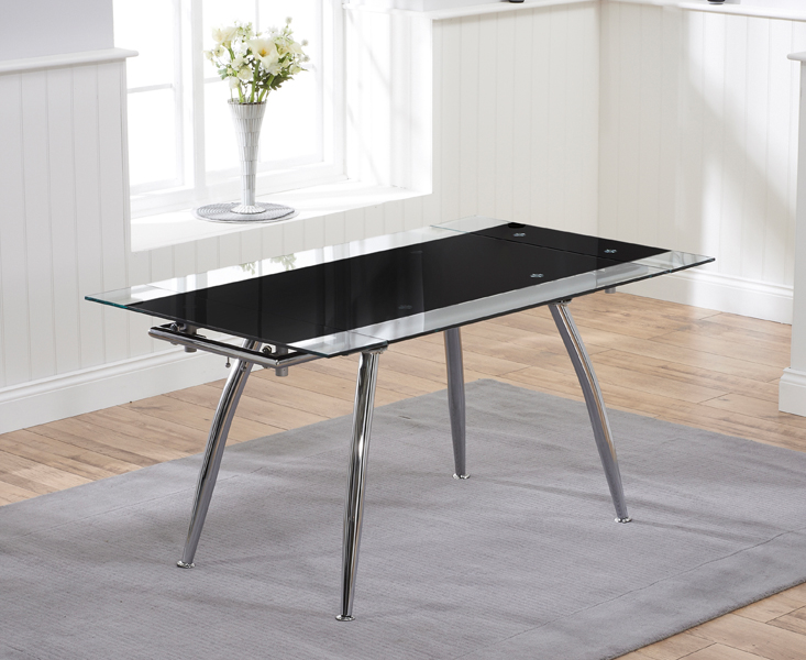 Ritz Black Extending Glass Dining Table
