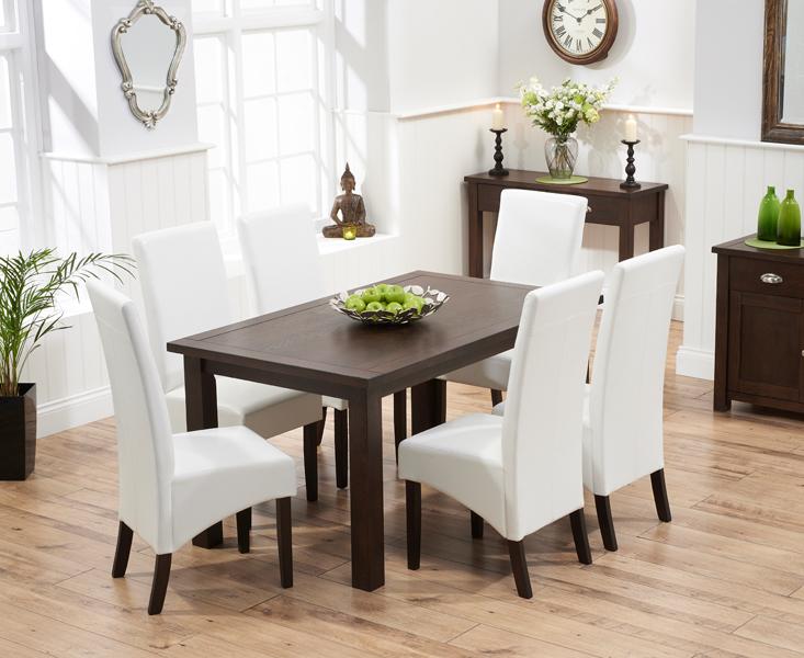 Somerset 150cm Dark Oak Dining Table with Dakota Chairs