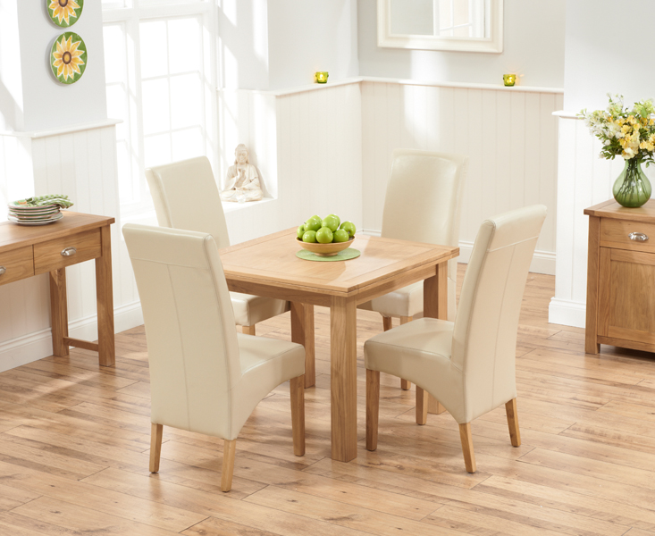 Somerset 90cm Flip Top Oak Dining Table with Cannes Chairs