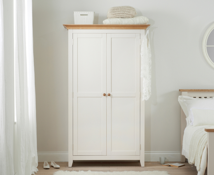 Camden Ash and Cream 2 Door All Hanging Wardrobe
