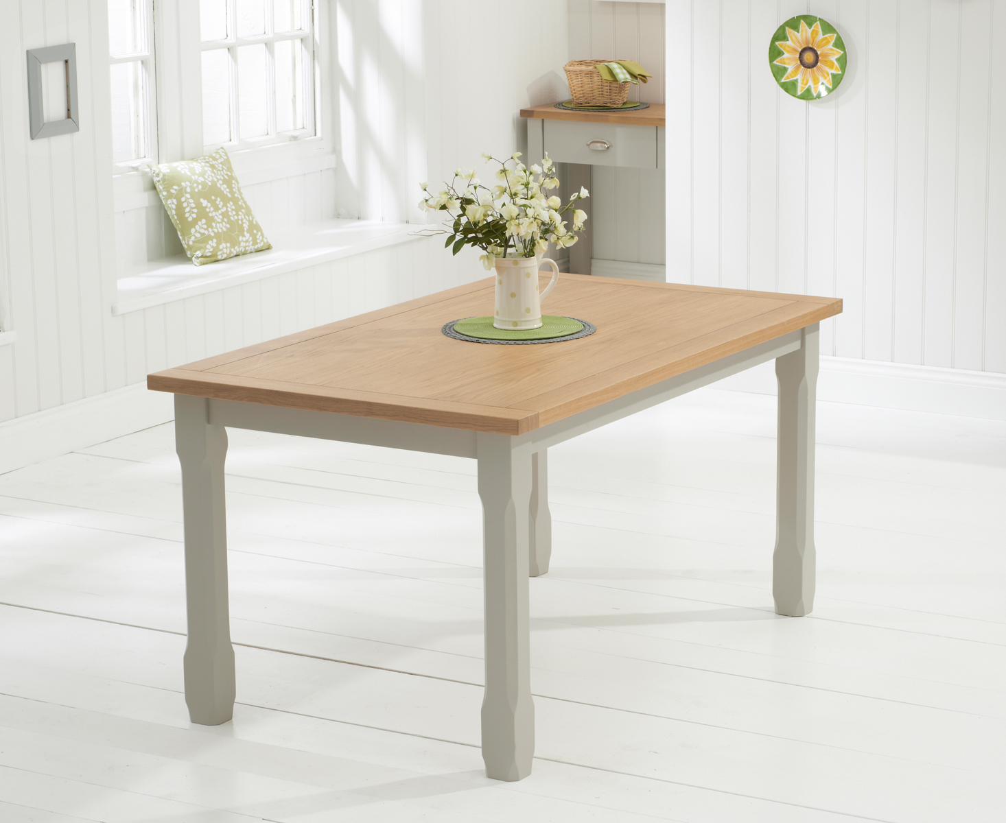 Somerset 130cm Oak and Grey Dining Table