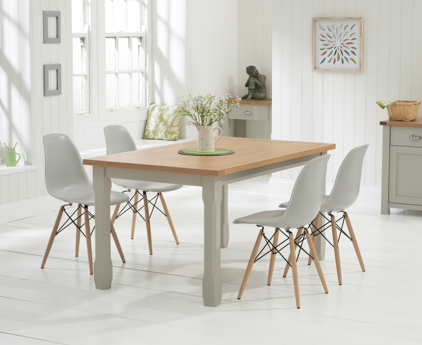 dining room set with 6 light grey dining chairs giovanni dining