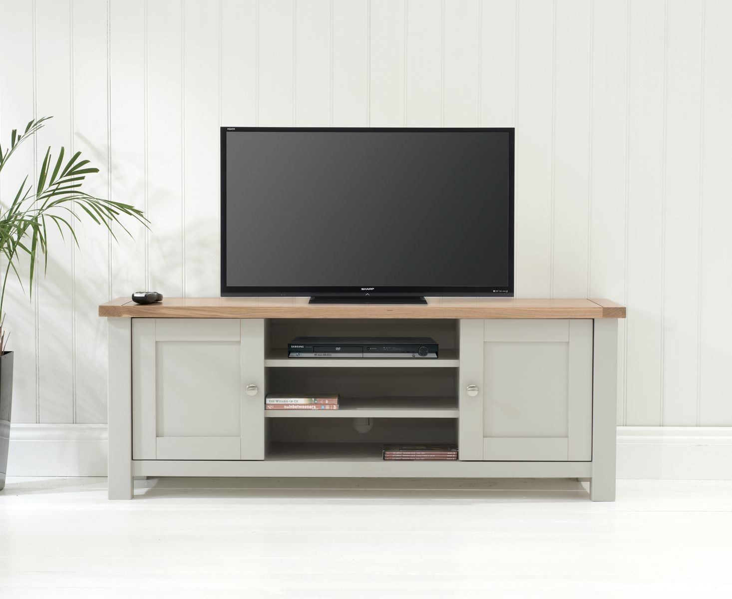 Somerset Oak and Grey TV Unit