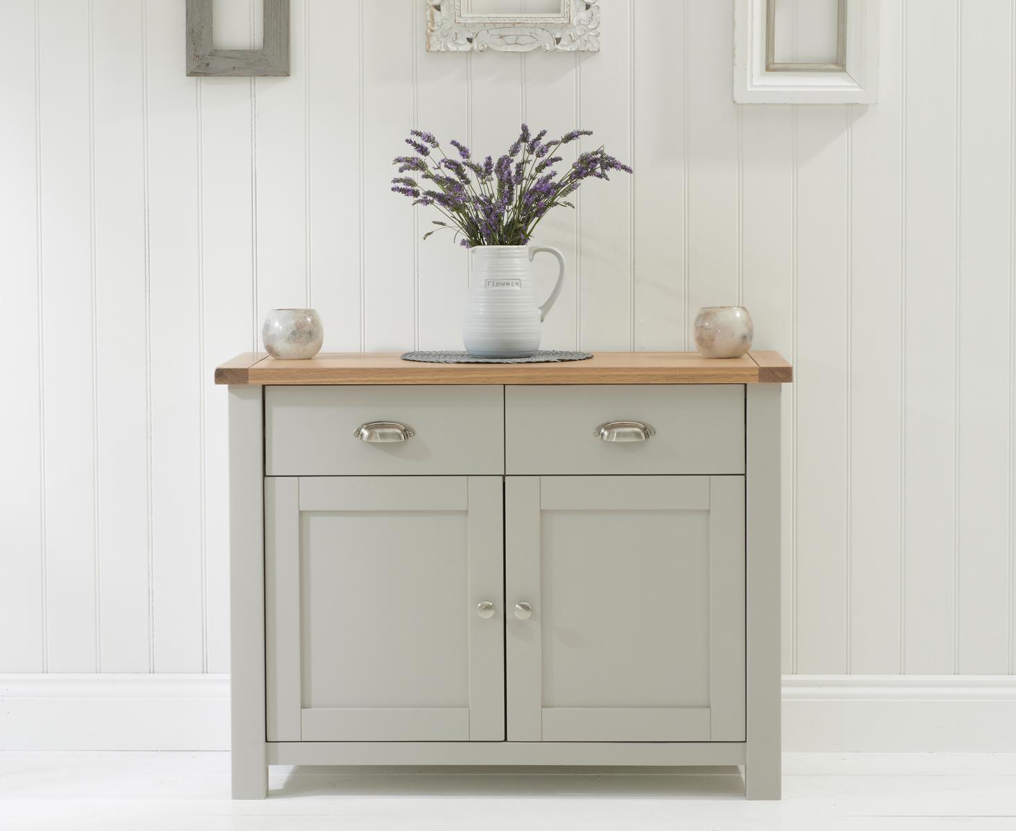 Somerset Oak and Grey 2 Door 2 Drawer Sideboard