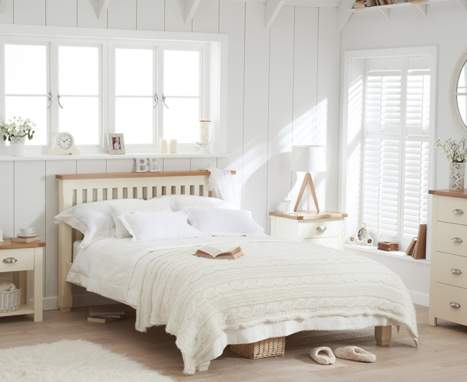 Somerset Oak and Cream Single Bed