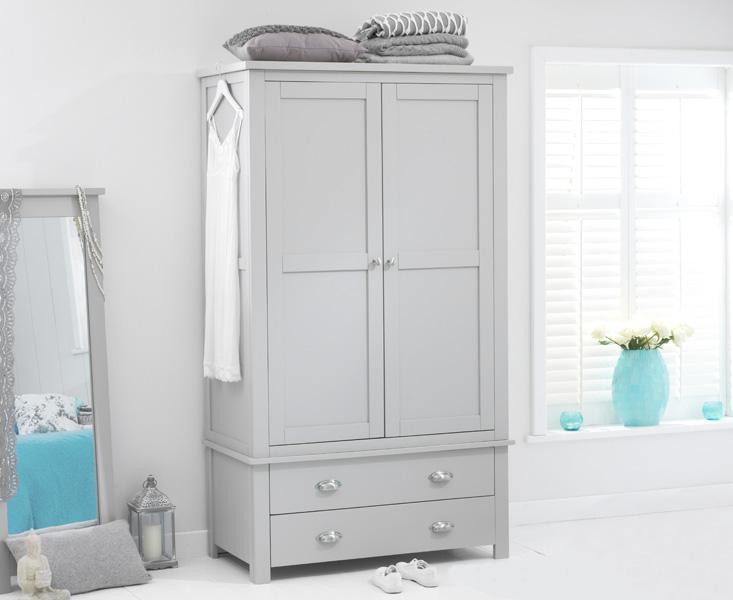 Somerset Grey Two Door Two Drawer Wardrobe