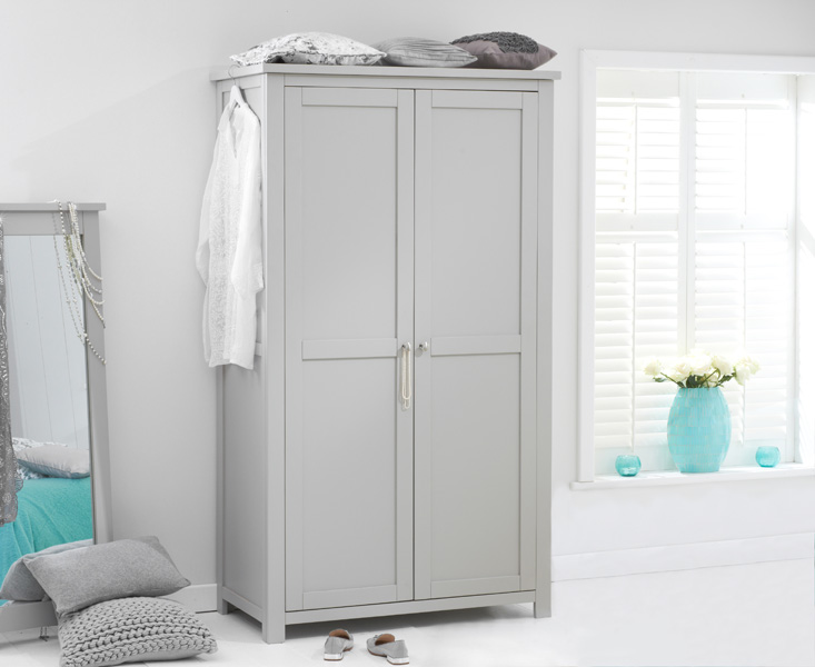 Somerset Grey Two Door Wardrobe