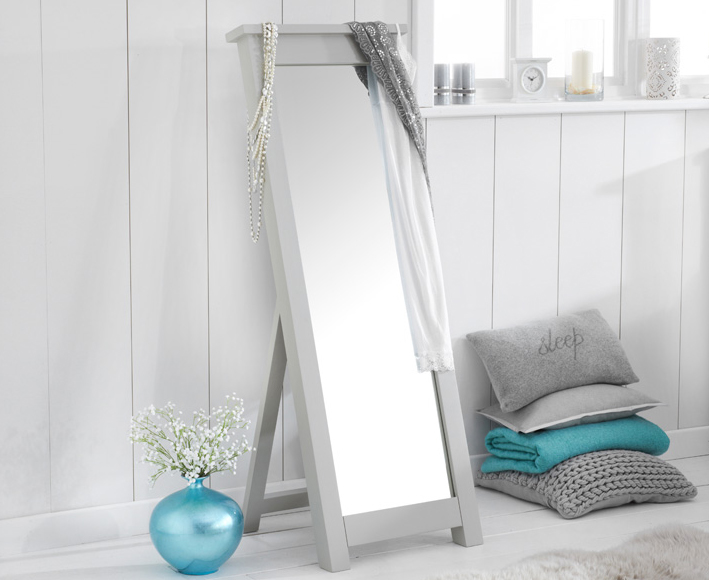 An image of Somerset Grey Cheval Mirror