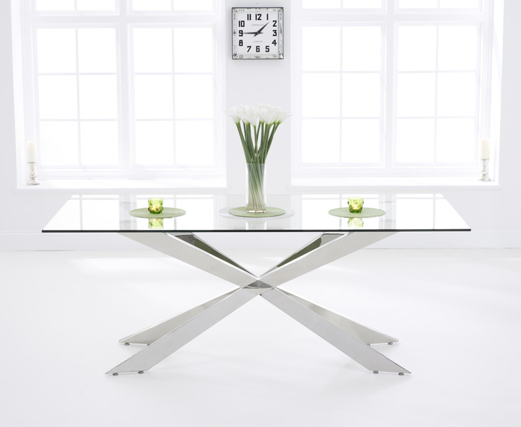 Juniper 160cm Glass Dining Table