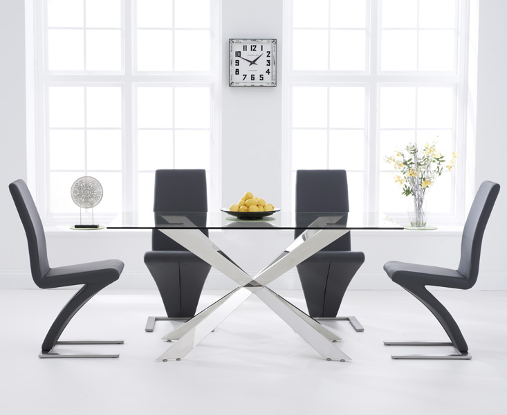 Juniper 160cm Glass Dining Table with Hampstead Z Chairs