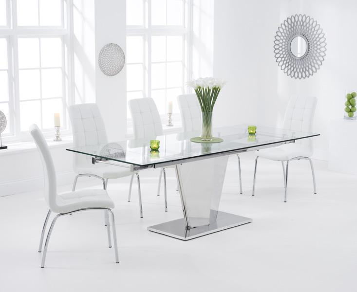 Liberty 160cm Extending Glass Dining Table with Calgary Chairs